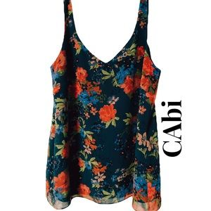 CAbi Coveted Still Life Cami; Sleeveless; Size L